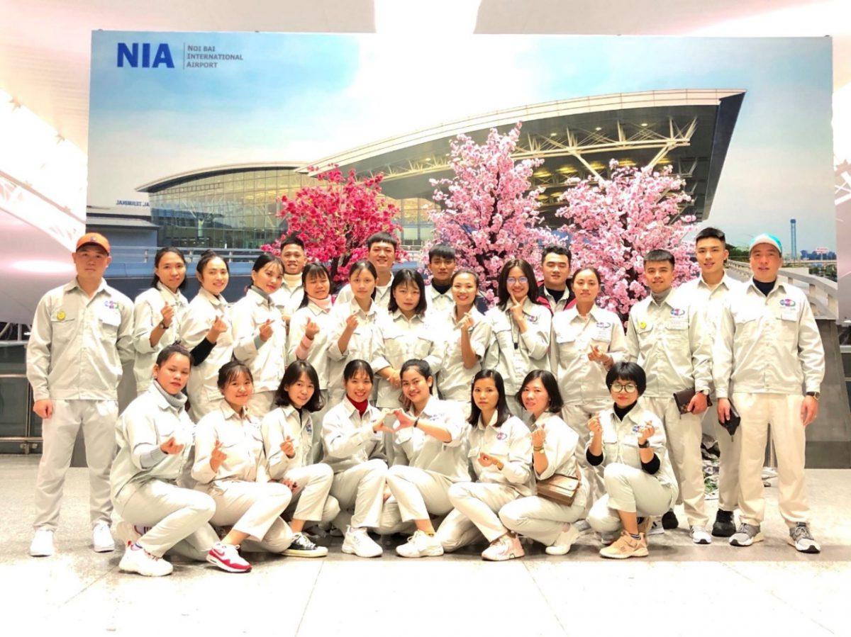 2020年1月に出国しました。熊本県で農業作業をする実習生の25名
