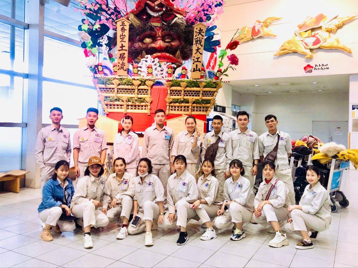 2020年2月に日本入国しました。熊本県や福岡県等で農業作業をする実習生の17名